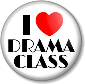I Love / Heart DRAMA CLASS Pinback Button Badge Stage School Acting Theatre Performing Arts